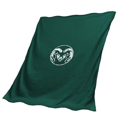 Green Colorado State University Sweatshirt Blanket